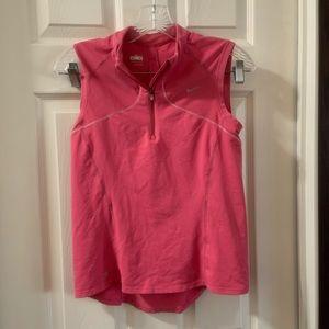 Nike Fit Dry Pink 1/2 Zip Sleeveless Tank size M